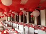 赤と白の装飾